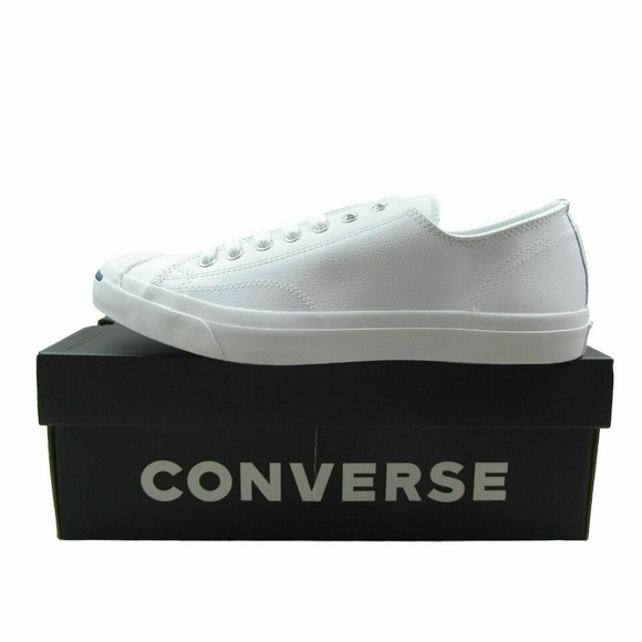 Converse Jack Purcell LEA OX White Leather Casual NWT